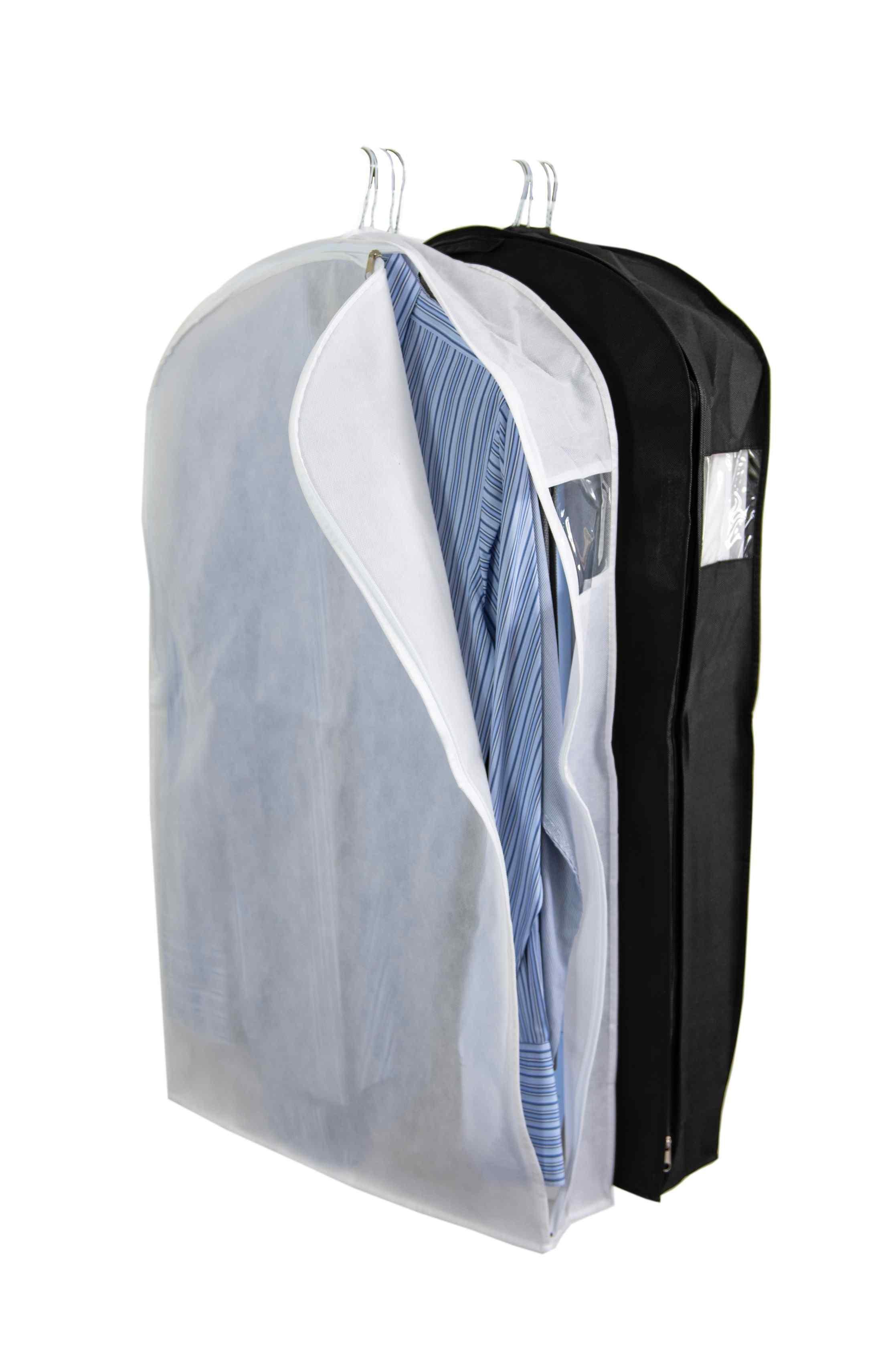 Black Non Woven Shirt Bag Gusseted